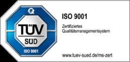 TÜV Zertifizierung ISO 9001