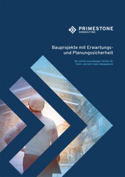 Nachtragsmanagement-Broschüre von Primestone Consulting (Cover)