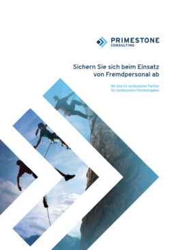 Outsourcing-Broschüre von Primestone Consulting